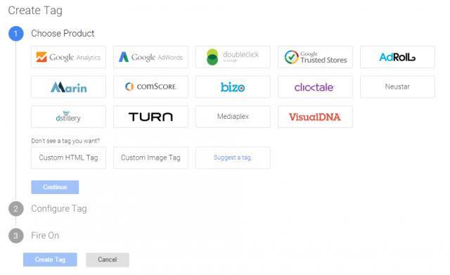 Google Tag Manager Tjenester