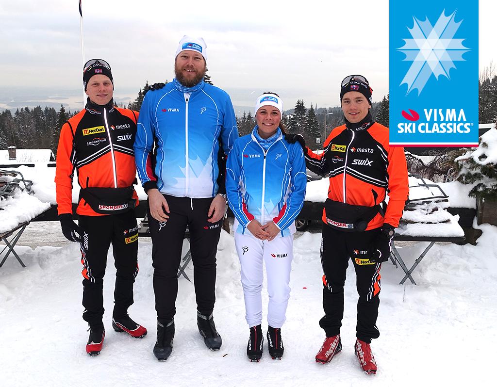 Stjernemøte: Vismas skihelter møtte andre- og tredjemann fra Vasaloppet på Frognerseteren.
