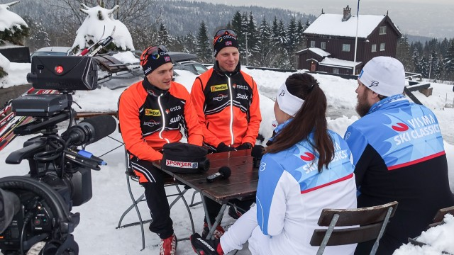 Utøverne fra Team Leaseplan Go ga av seg selv i møtet med Vismas skihelter.