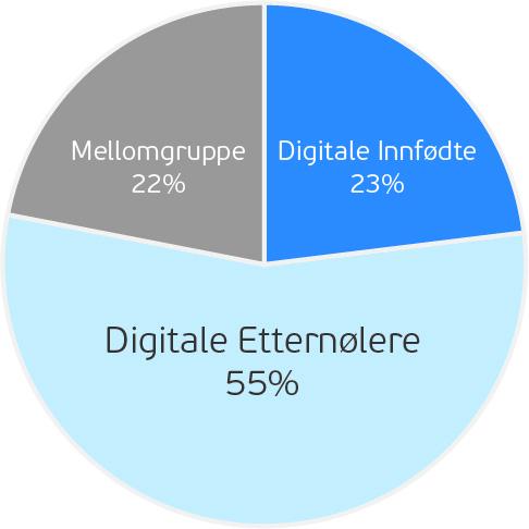 Befolkningsfordeling Digitale Innfødte