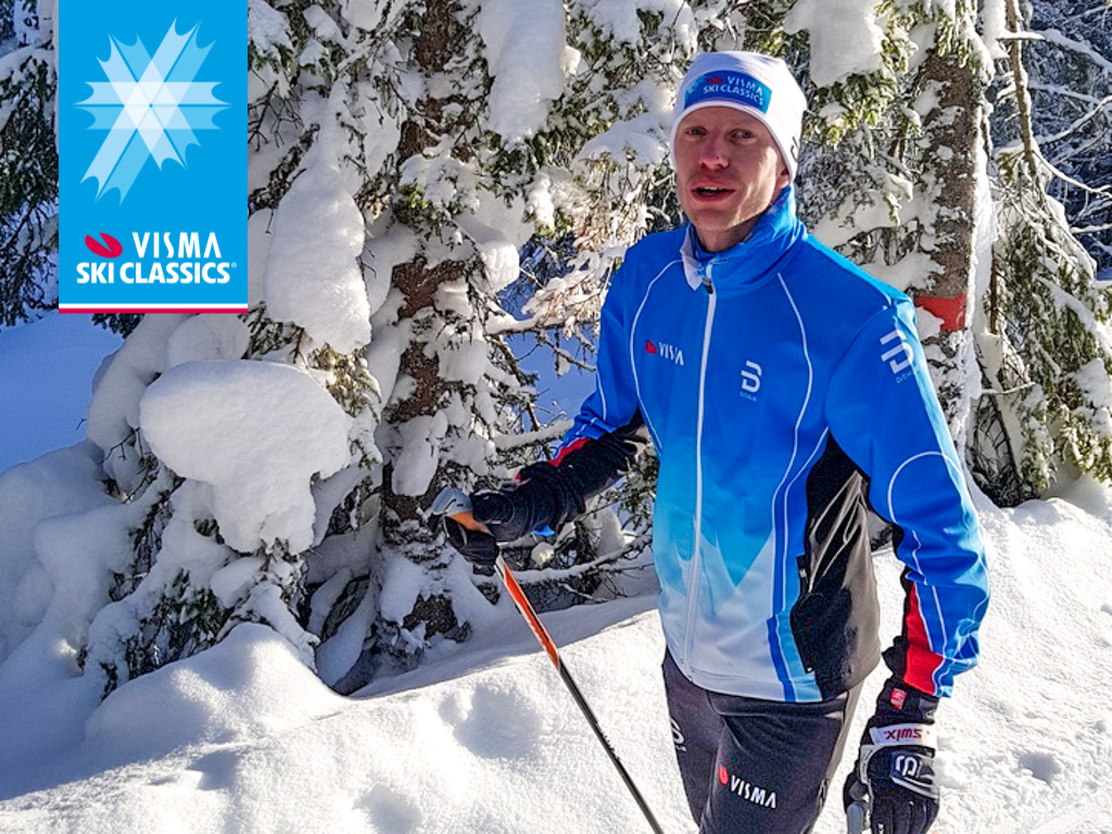 Fredrick Strøm under første trening for Prosjekt Ylläs-Levi.