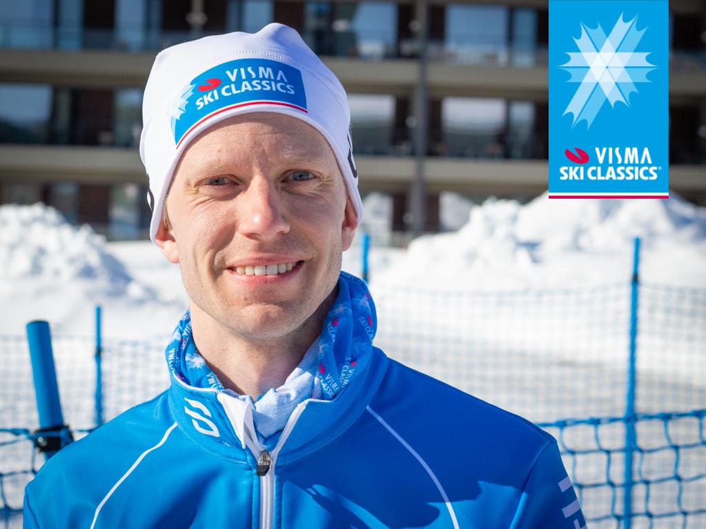Stolt Fredrick Strøm etter fullført Prosjekt Ylläs-Levi.