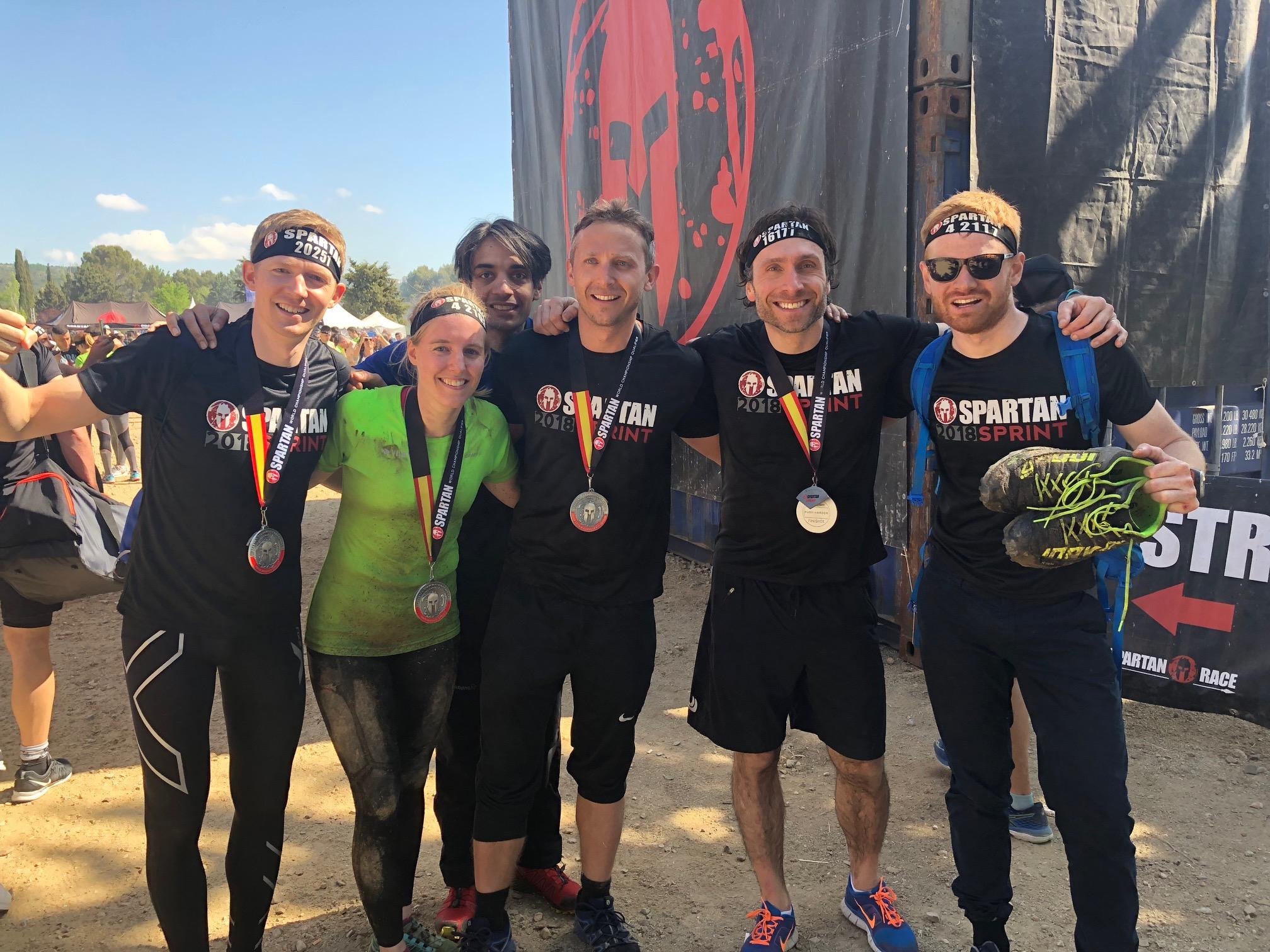 Teamet på Spartan Race