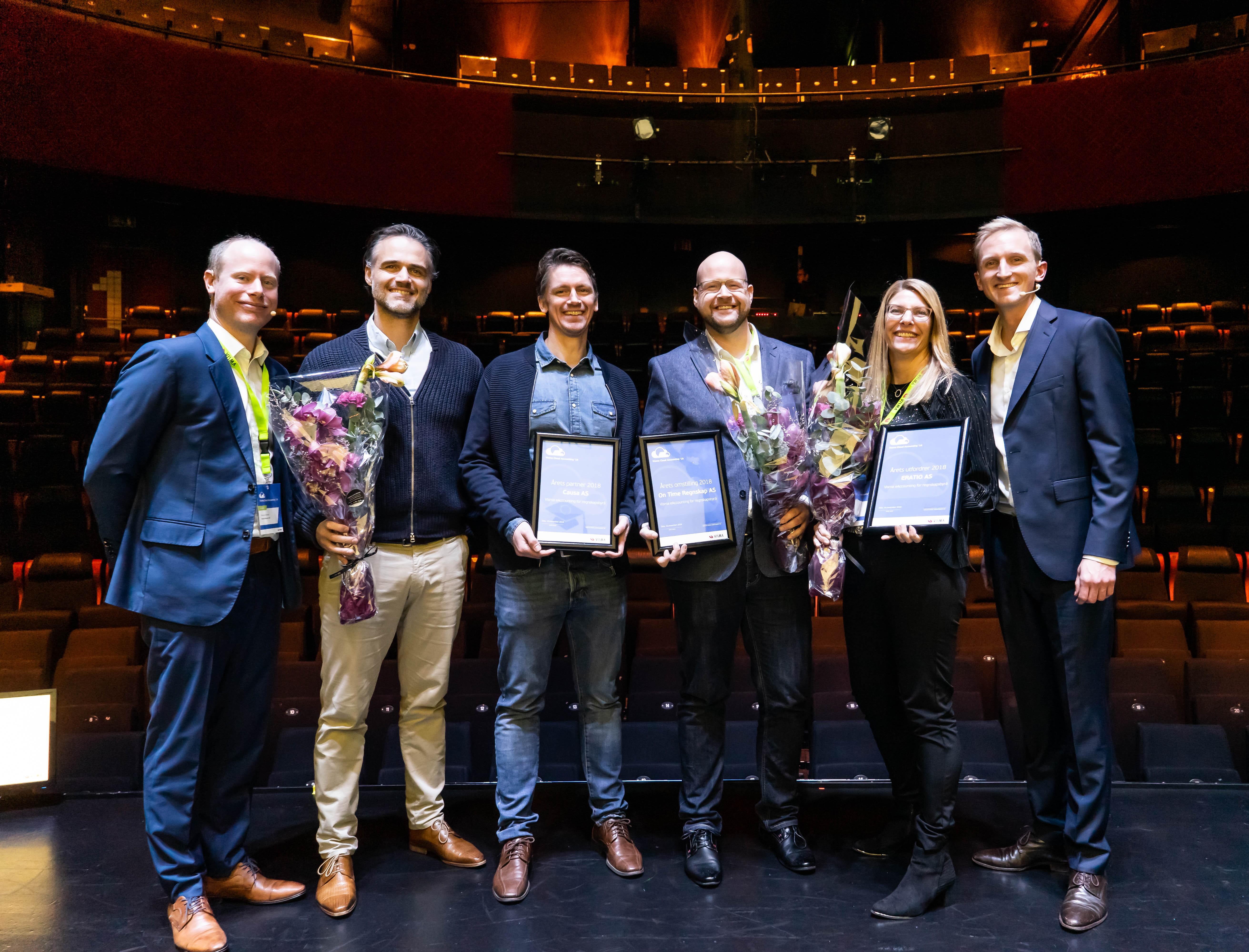 Her er awards-vinnerene under årets Visma Cloud Accounting '18