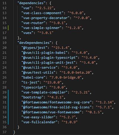 Vue code