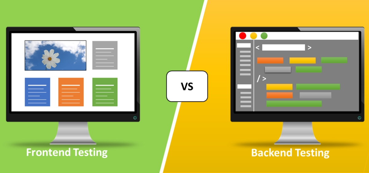 Backend testing vs. frontend testing