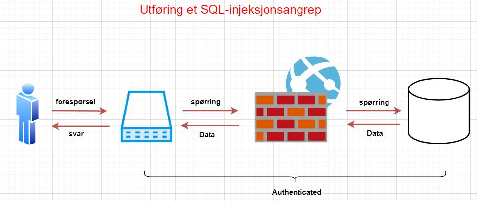 Utføring av et SQL-injeksjonsangrep