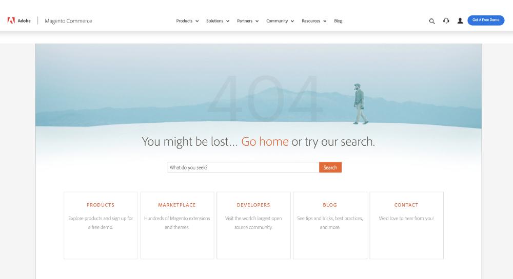 404 Page not Found feilmelding