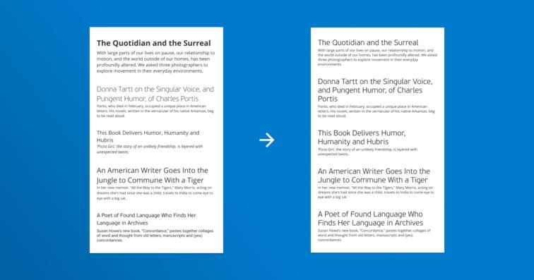 Eksempel på ulike fontstørrelser og konsistens med fonter