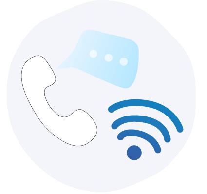 Telefon og internett