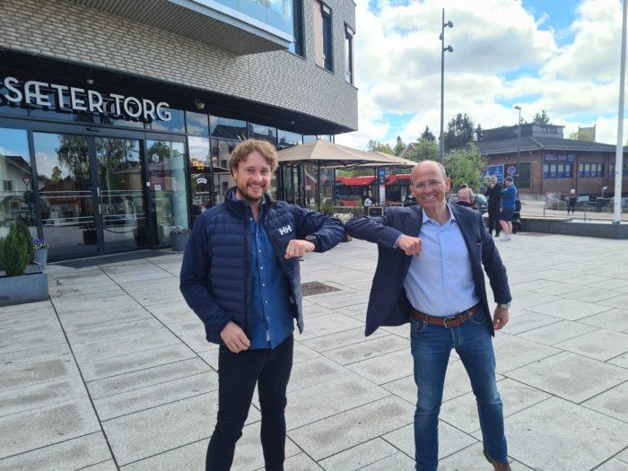 Øyvind Larsen i Visma Software og Bjørnar Andersen i 4Human