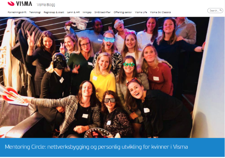 Read the Visma Mentoring Circle Blogg