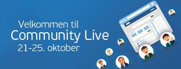 Bli med på Community Live!