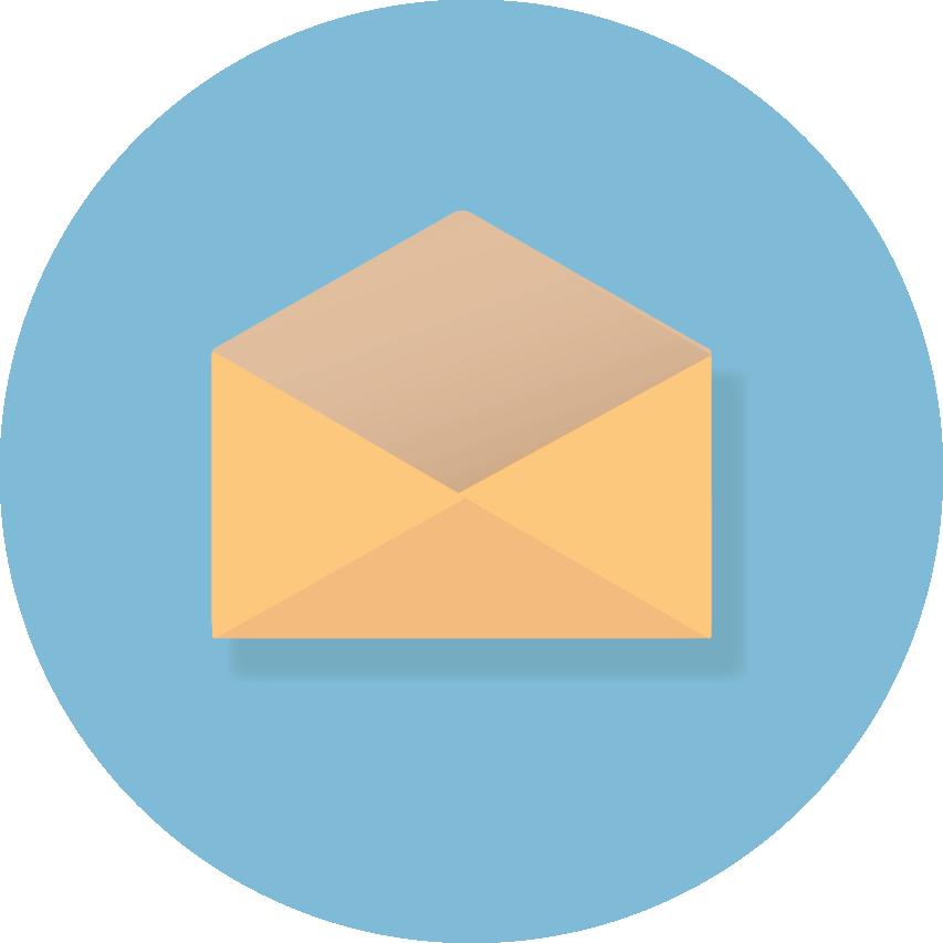 18784f22 Nyhetsbrev på melding - åpent konvolutt